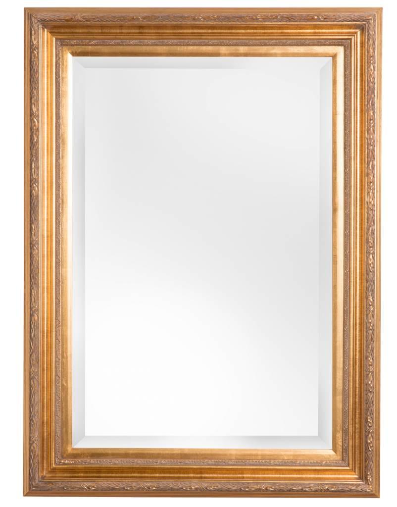 Montpellier facet spiegel met gouden lijst for Spiegel spiegel