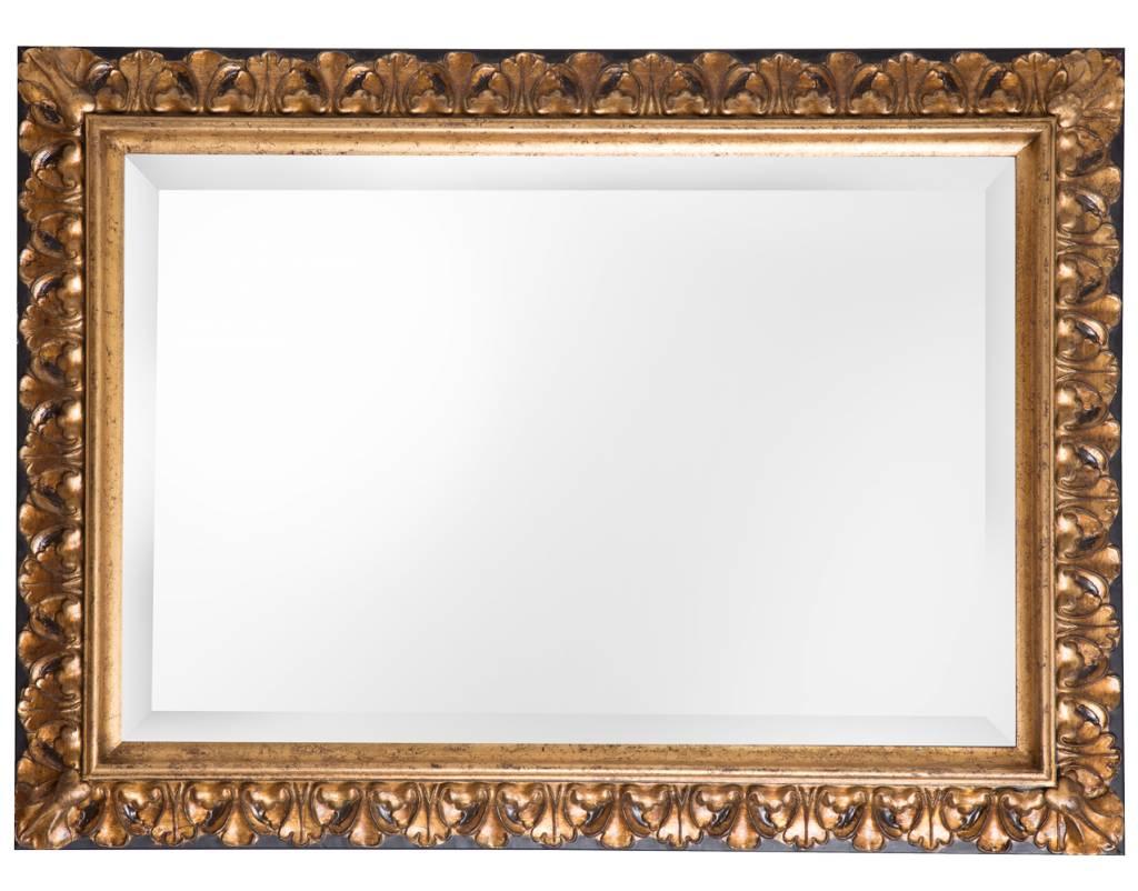 Gouden Barok Spiegel : Padua spiegel met gouden lijst met bruine rand kunstspiegel