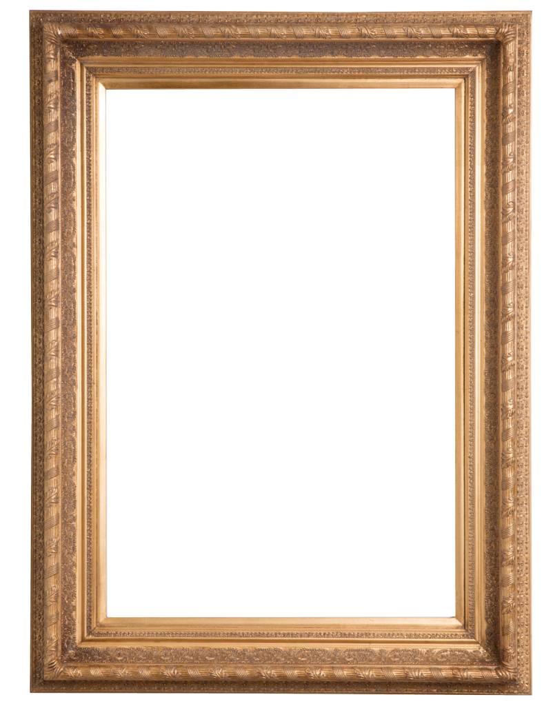 Vigo gouden lijst met ornament kunstspiegel for Spiegels zonder lijst