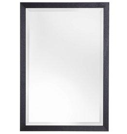 Boriana - spiegel - zwart/hout