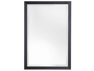 Boriana - Betaalbare Landelijke Spiegel - Zwart Houten Frame