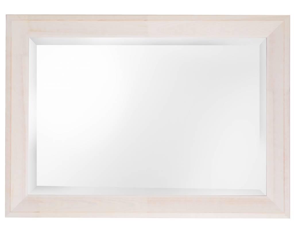 Nantes - facet spiegel met witte houten lijst