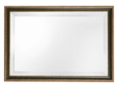 Pavia - spiegel - goud/donkergroen