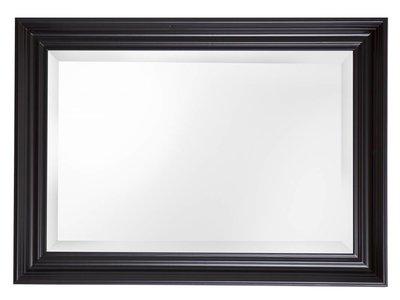 Brescia Spiegel Met Brede Zwarte Lijst Kunstspiegel