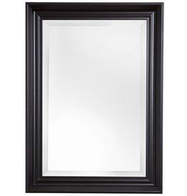 Brescia spiegel met brede zwarte lijst