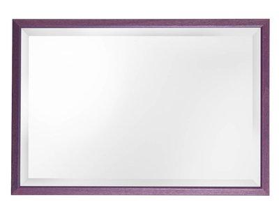 Lille - spiegel - paars/hout