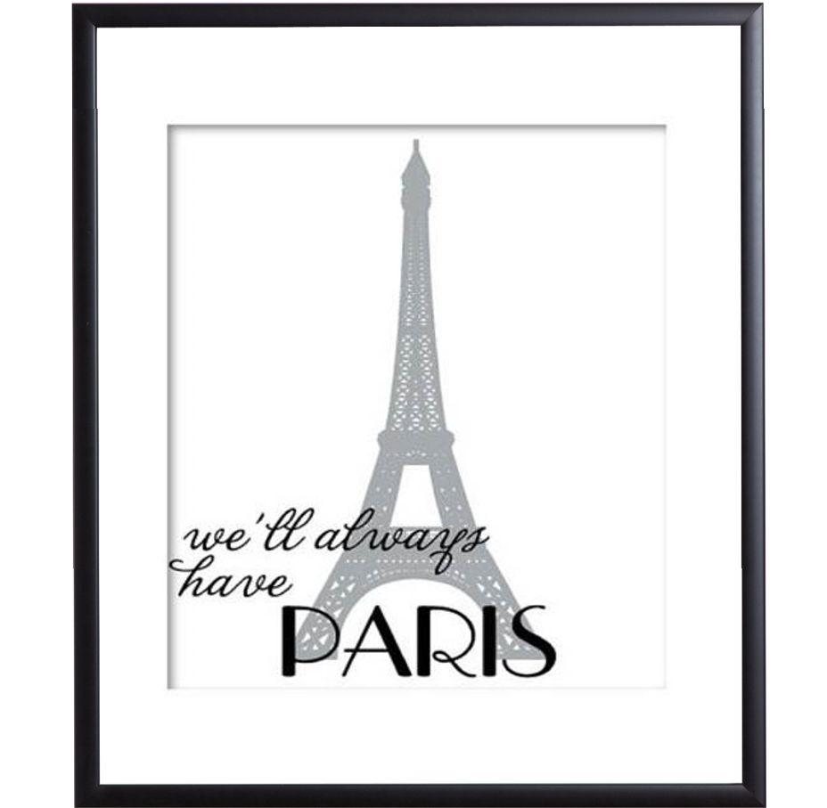 Parijs poster met zwarte lijst