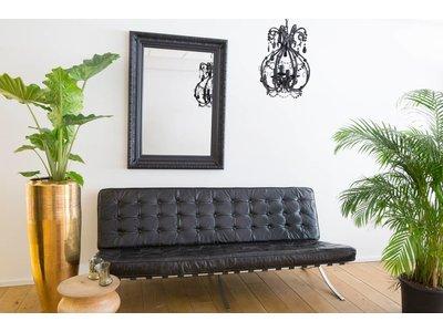 Antibes - spiegel met barok zwarte lijst van hout