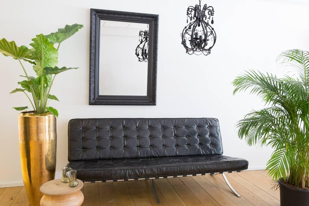 Antibes spiegel met barok zwarte lijst van hout for Spiegel met zwarte lijst