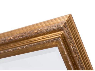 Montpellier - facet spiegel met gouden lijst
