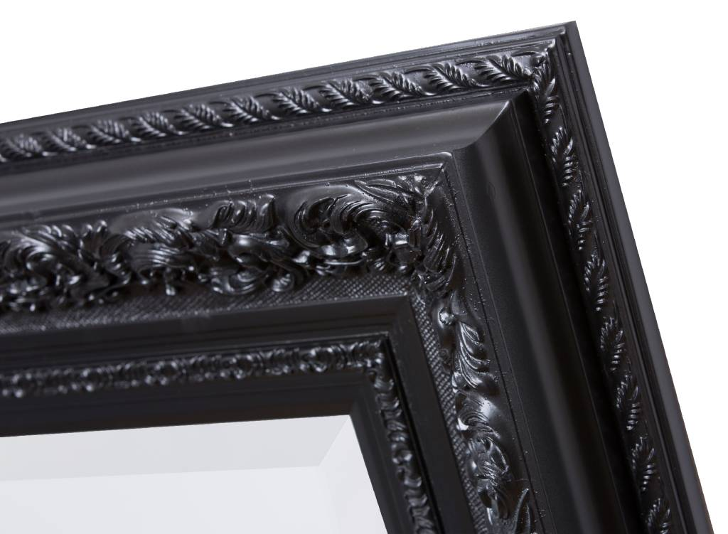 Genova spiegel met zwarte barok lijst for Spiegel zwarte lijst
