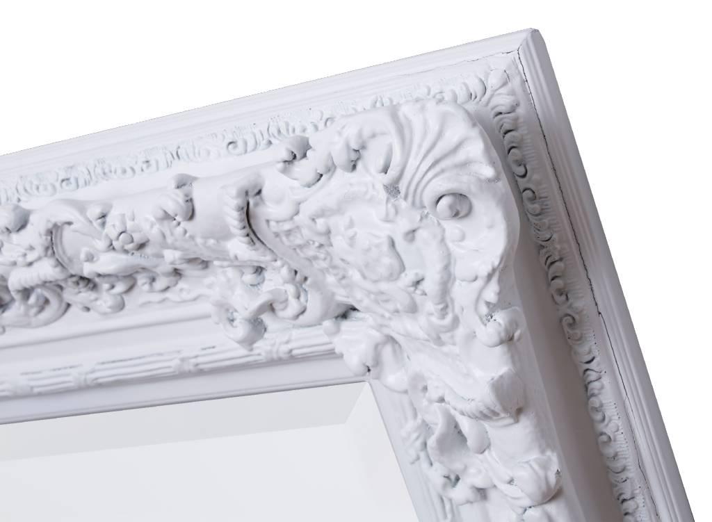 Witte Barok Spiegel : Kuifpiegel franse stijl rufino wit barokspiegel