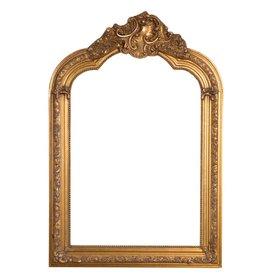 Parijs - Spiegel met gouden barok lijst met kuif
