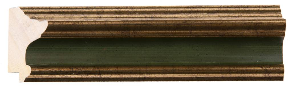 Pavia - goud en donker groene lijst