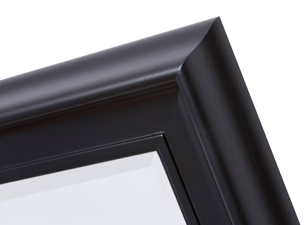 Foggia spiegel met moderne zwarte lijst kunstspiegel for Spiegel met zwarte lijst
