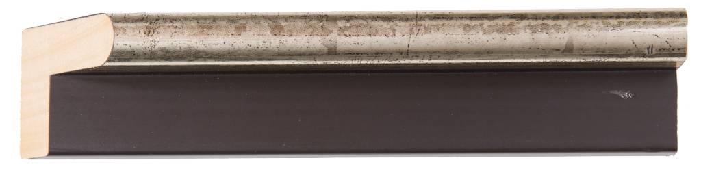 Todi - Baklijst voor Paneel of Doek - Kleur Zilver