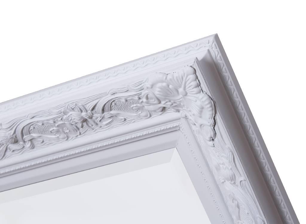 Witte Barok Spiegel : Grote antieke brocante barok spiegel in wit goud a vendre