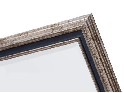 Varzi - spiegel - zilver/donkerblauw