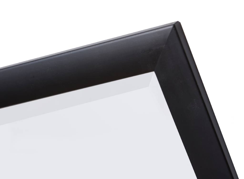 Spiegel Zwarte Lijst : Frascati spiegel met moderne zwarte lijst kunstspiegel