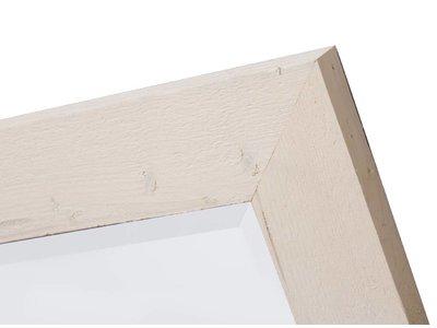 Wood - spiegel - geschuurd steigerhout - whitewash
