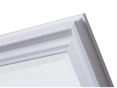 Brescia - spiegel met moderne witte lijst