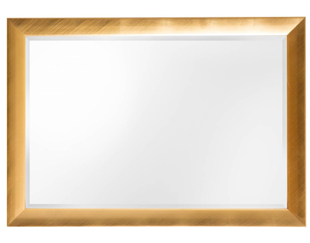 Gela - spiegel met moderne gouden lijst