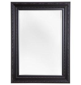 Montpellier - facet spiegel met zwarte lijst