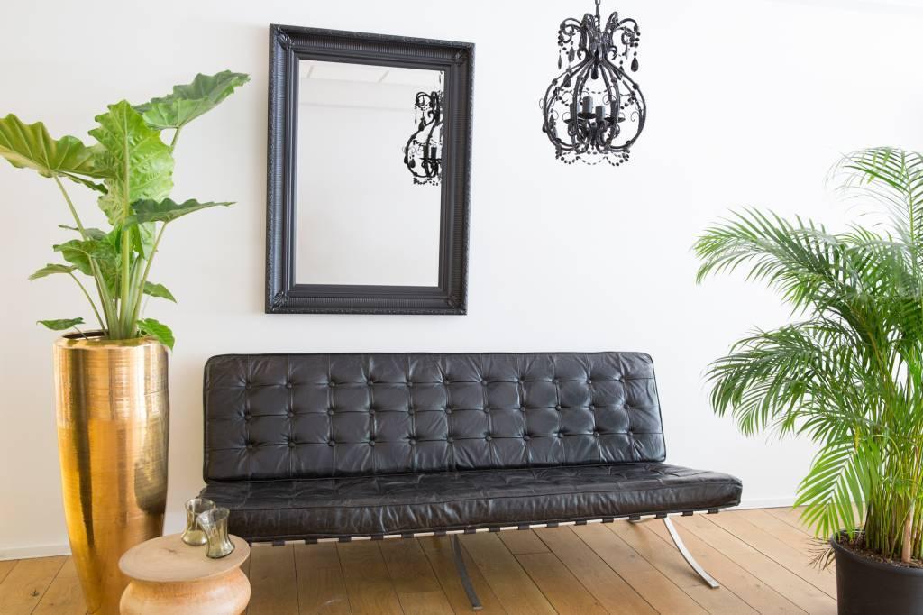 Bari spiegel met unieke zwarte lijst