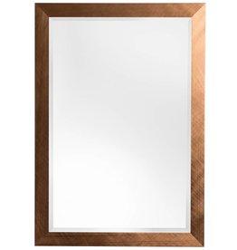 Ormea - spiegel met moderne bronzen lijst