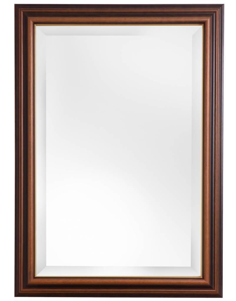Stockholm - spiegel - bruin + gouden rand