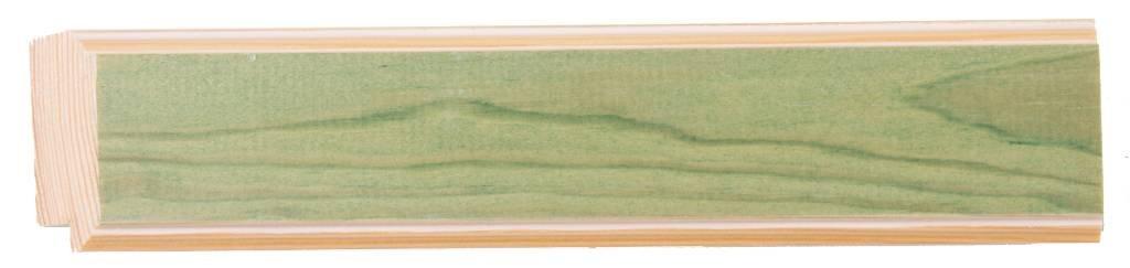 Bremen spiegel met groene lijst van hout