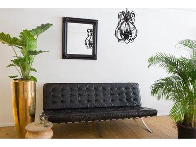Valencia - Klassieke Barok Spiegel - Zwart Frame