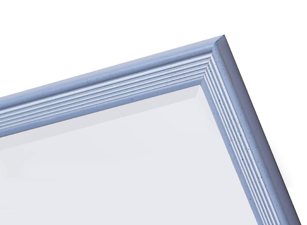 Helsinki - spiegel - blauw/wit