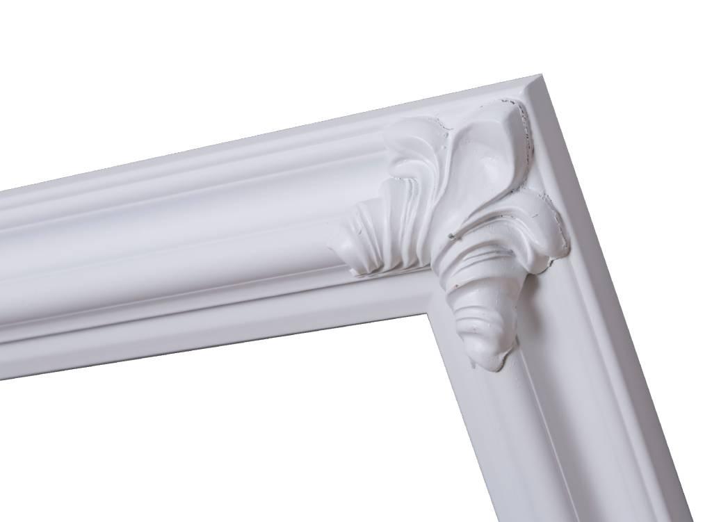 Valencia - witte klassieke lijst van hout