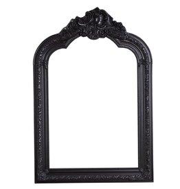 Parijs - Spiegel met zwarte barok lijst met kuif