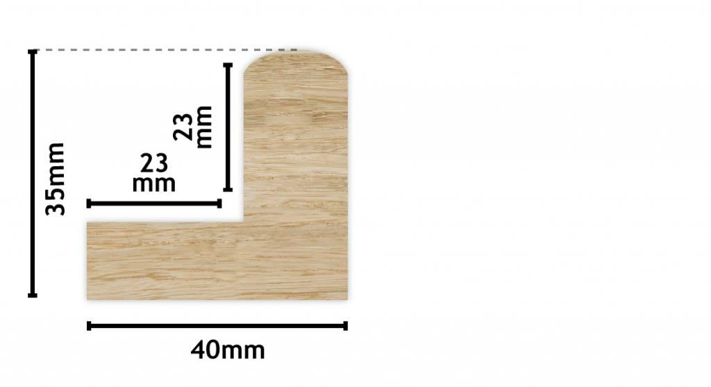 Todi - Baklijst voor Paneel of Doek - Kleur Zwart