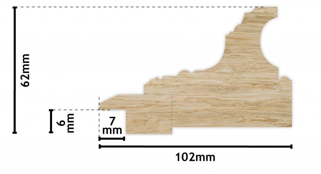 Lyon witte lijst van hout