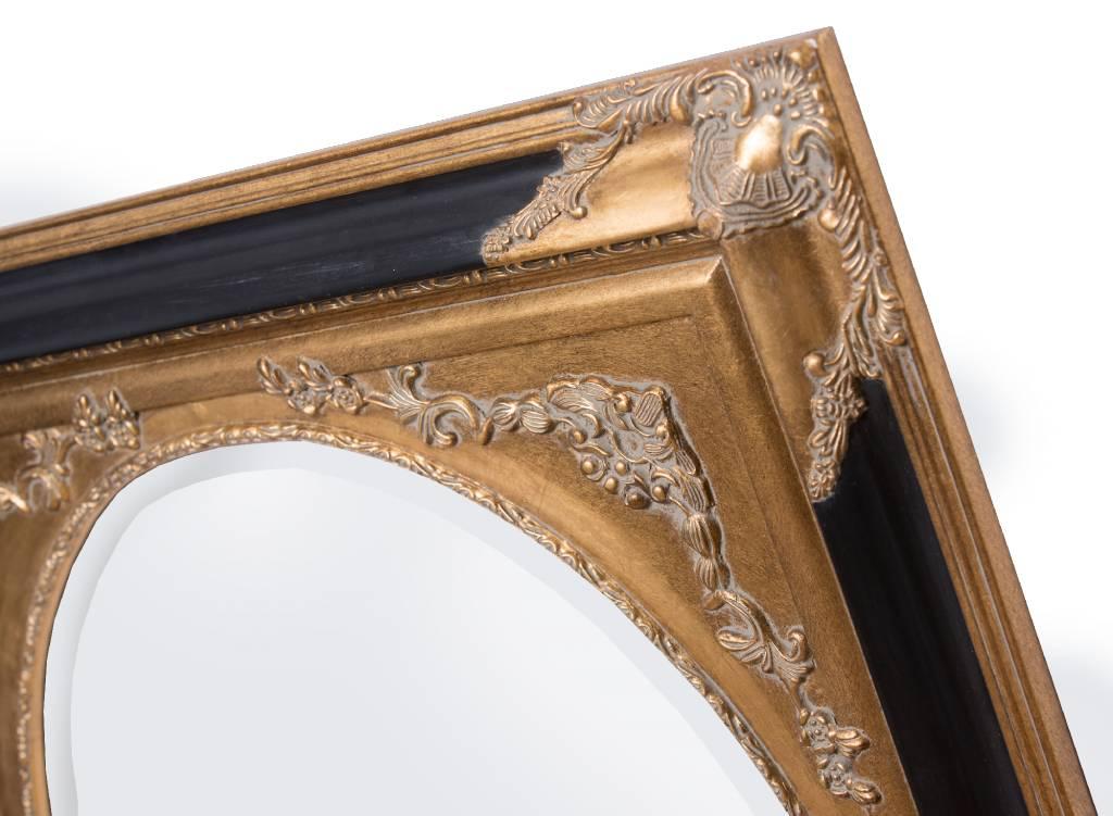 Tivoli - spiegel - goud/zwart