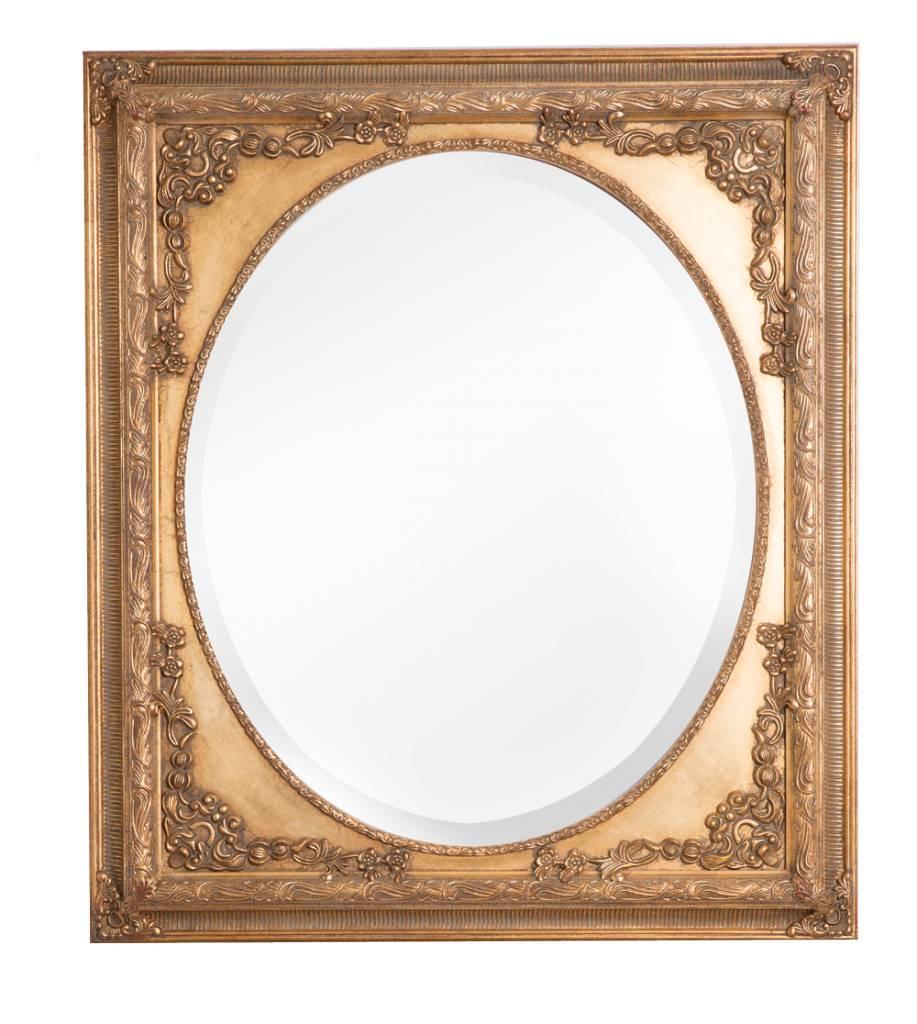 teramo klassieke gouden ovale spiegel kunstspiegel. Black Bedroom Furniture Sets. Home Design Ideas