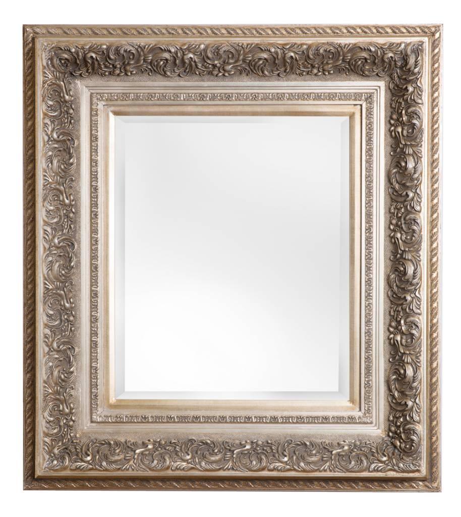 genova luxe barok spiegel met windmotief licht zilver gekleurd kunstspiegel. Black Bedroom Furniture Sets. Home Design Ideas