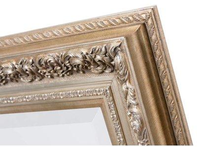Genova - Luxe Barok Spiegel met Windmotief - Licht Zilver Gekleurd