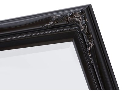 Verona - Klassieke Barok Spiegel met Dubbele Rand - Zwart Frame