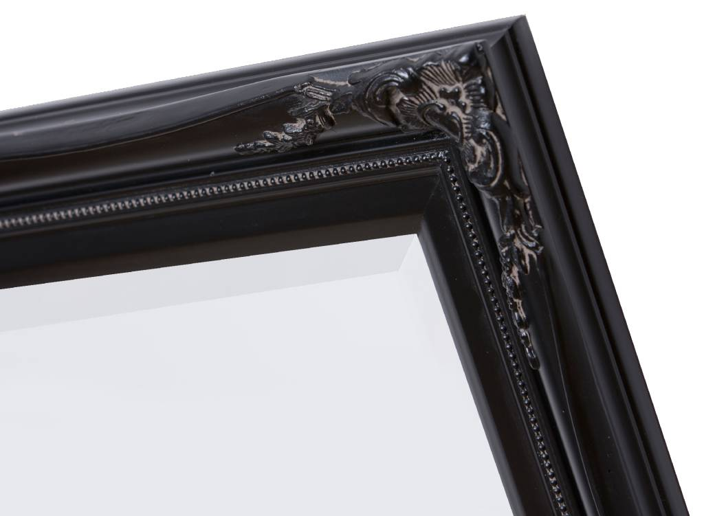 Spiegel Zwarte Lijst : Verona klassieke barok spiegel met dubbele rand zwart frame