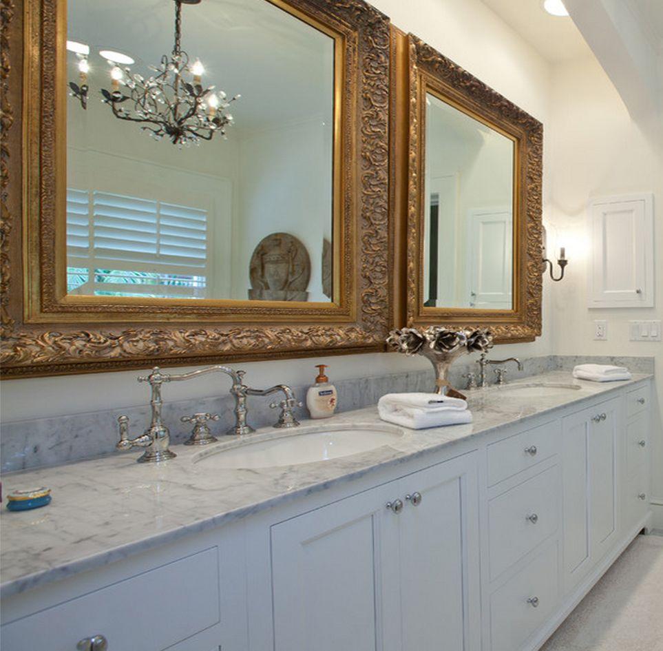 Badkamer Spiegel Met Lijst: Mooie badkamerspiegel met ...