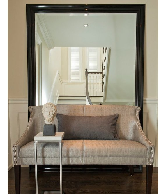Brescia  spiegel met moderne zwarte lijstKunstspiegelnl