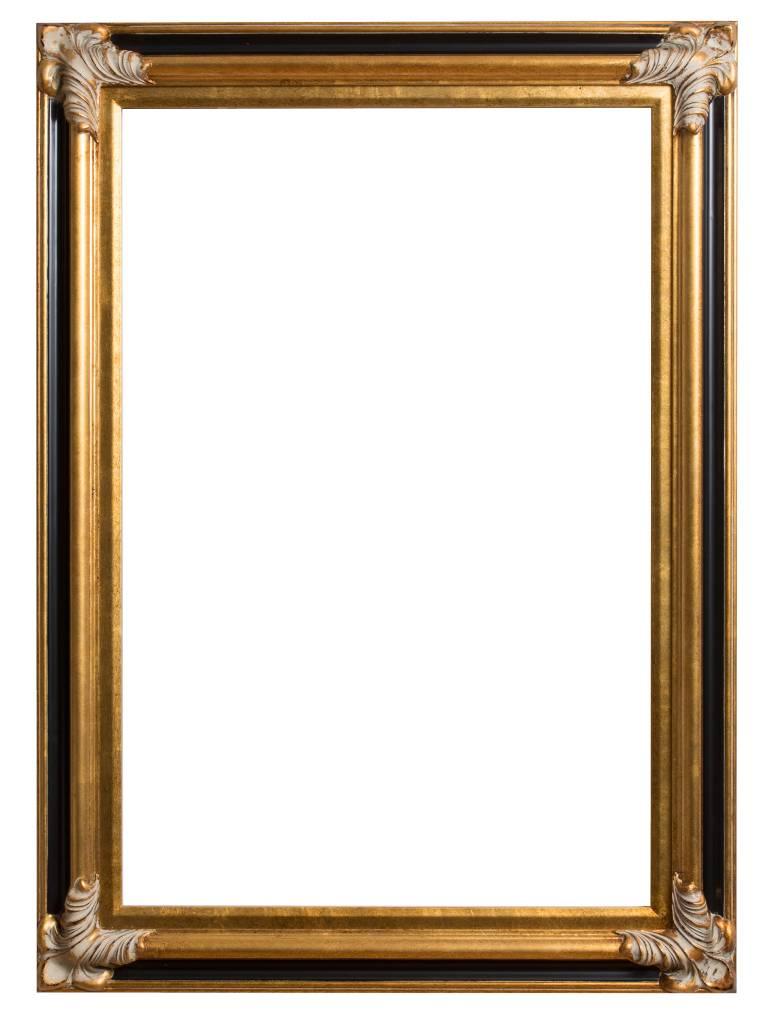 Valencia - Goud met zwart houten lijst