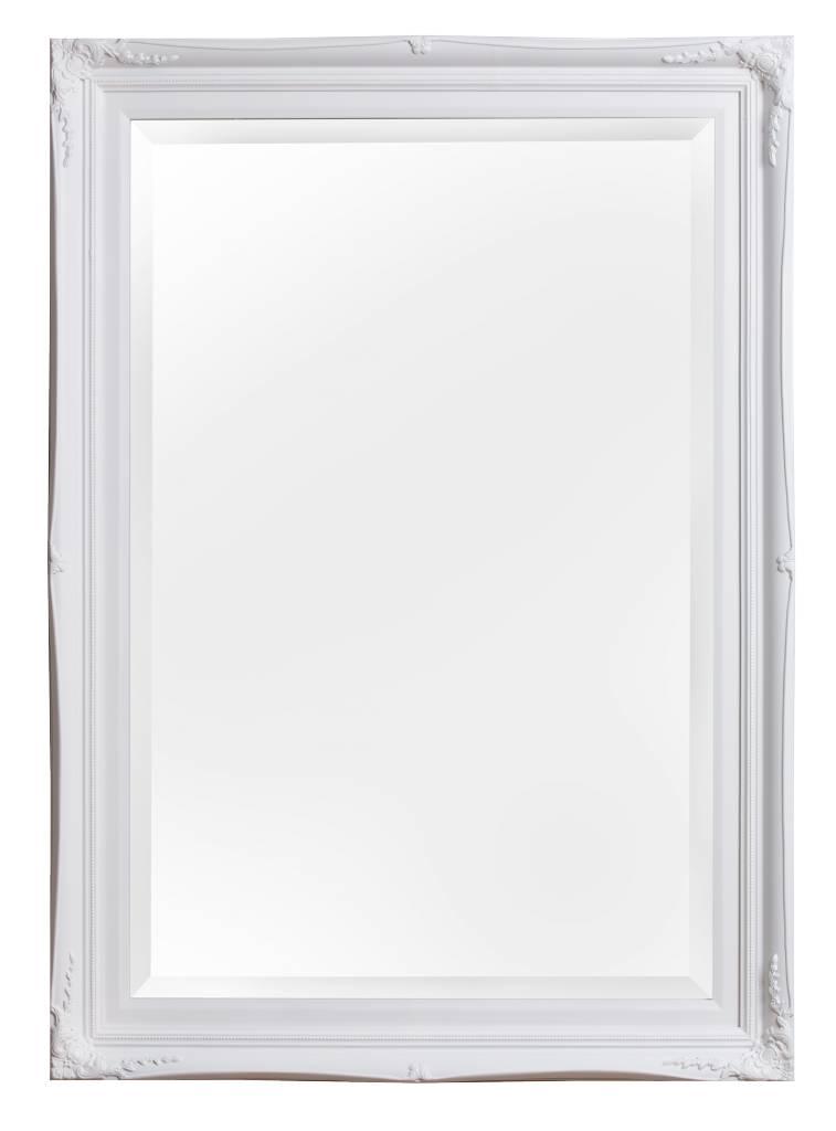 Verona spiegel met klassieke witte lijst