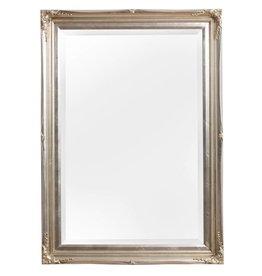 Verona - Klassieke Barok Spiegel met Dubbele Rand - Zilveren Frame
