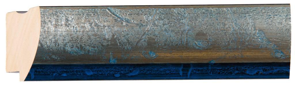 Atessa - spiegel - zilver/blauw