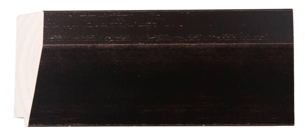 Nantes - facet spiegel met donker bruine houten lijst